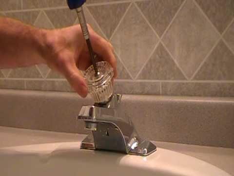 How to replacerepair a leaky moen cartridge in a bathroom