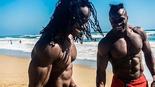 African Beasts Alseny and Sekou @ Huntington Beach W/ Strength Project