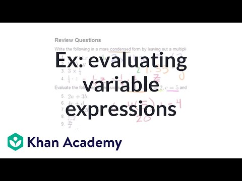 Order of Operations and Variable Substitution ( Video