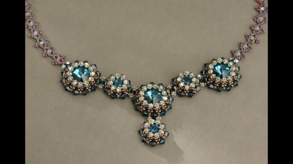 Sidonia39s handmade jewelry Blue Roses Necklace