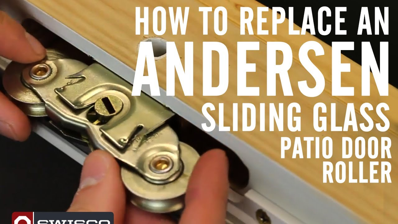 How to replace an Andersen roller in a sliding glass patio