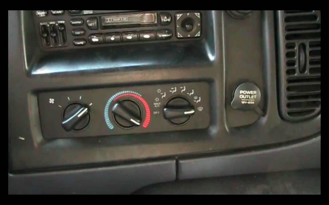 98 Dodge Ram 1500 Fuse Box Diagram 1998 2003 Dodge Ram Van Blower Switch Repair Guide Youtube