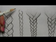 draw hair braids