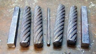 Dagger blade Damascus of the cable