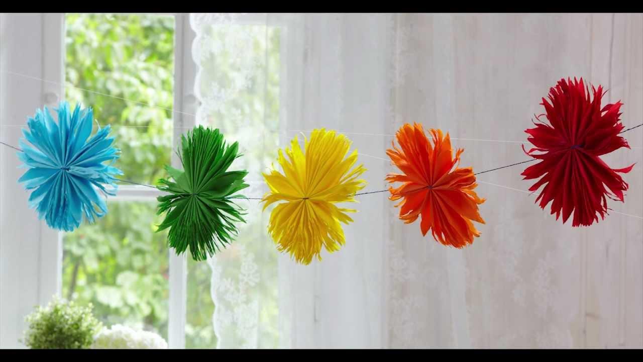 Blumen aus KreppPapier Extra gro  YouTube