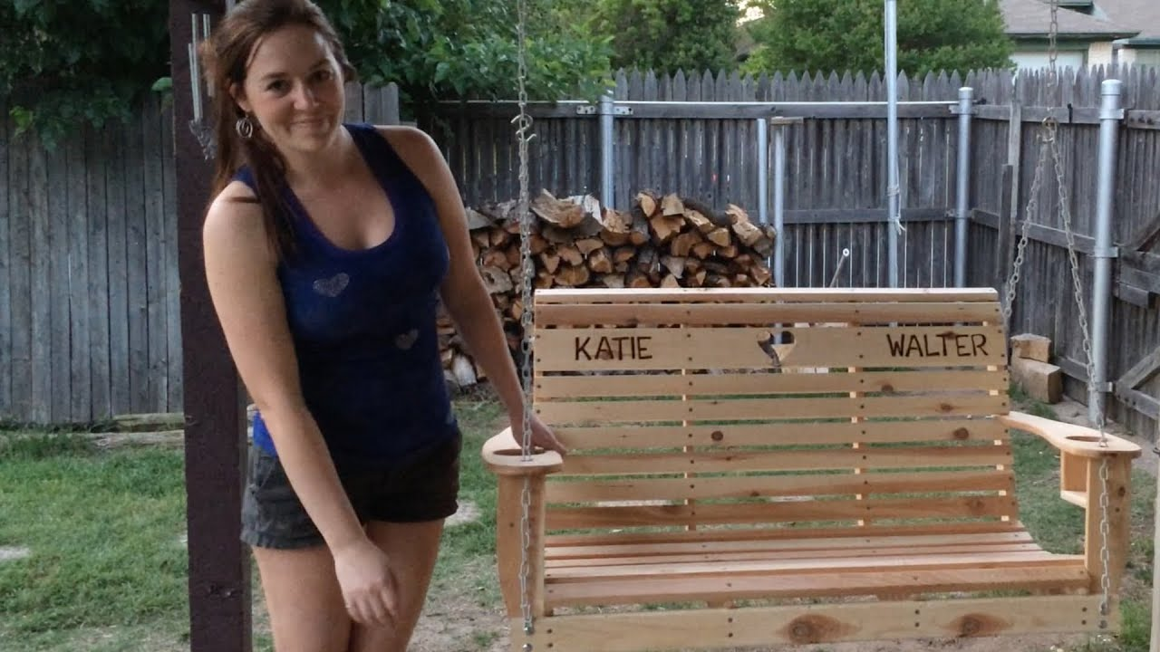 DIY Porch Swing  YouTube
