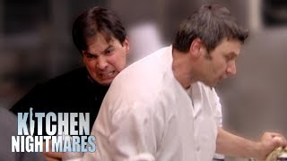 Watch Out of Control Owner Attacks His Own Chef! | Kitchen Nightmares Video