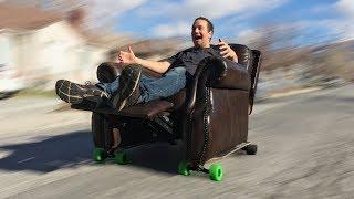 Electric Skateboard Recliner through Drive-Thru - Waterjet Channel