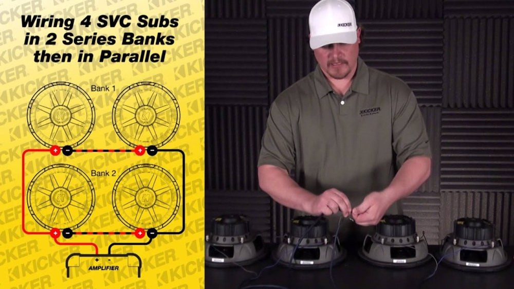 medium resolution of subwoofer wiring four 4 ohm svc subs in series parallel parallel speaker wiring diagram series parallel speaker wiring diagram