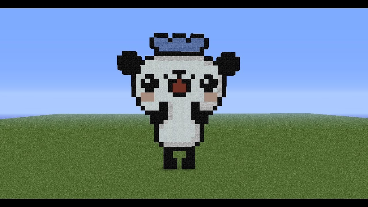 Baby Kung Fu Panda Cute Wallpaper Minecraft Pixel Art Tutorial 70 Panda Youtube