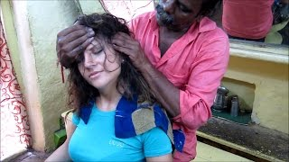 World's Greatest Head Massage 19 : Eliana (ASMR Barber) meets Baba, the cosmic Barber