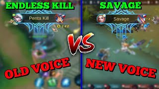 OLD VOICE VS. NEW VOICE ANNOUNCER | PENTAKILL VS. SAVAGE | MOBILE LEGENDS