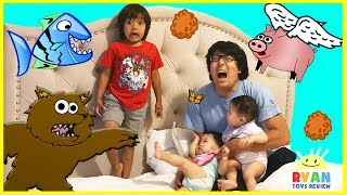 FUNNY DISASTER SURVIVAL Family Fun Kids Pretend Playtime with Twin Babies