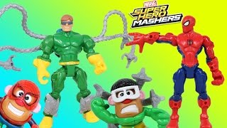 Spider-Man Doc Ock Marvel Super Hero Mashers Super Pack w/ Ultron's Mixup ray & Potato Spidey