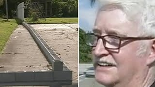 This Old Man's Neighbor Split Their Driveway With Cinder Blocks – So He Taught Him Some Respect
