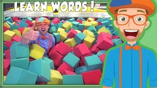 Learning Words with Blippi at the Trampoline Park | for Toddlers