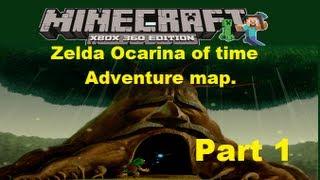 MineCraft xbox 360 edition: Zelda Ocarina of time adventure map ...