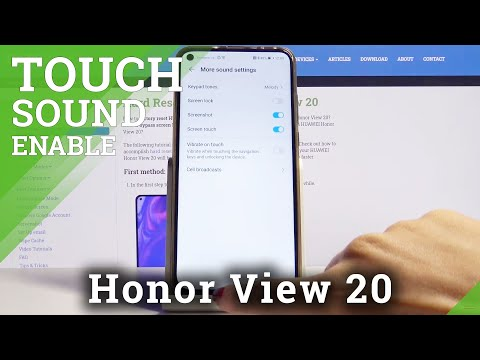 How to Enable Touch Sound on Honor View 20 – Sound Settings