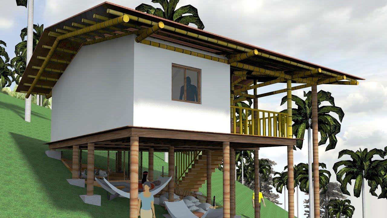 Casa indgena Palafitica en madera y bamb Guadua  YouTube