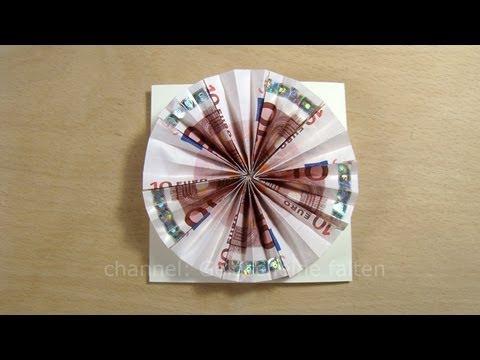 Geldgeschenke originell verpacken Sonne basteln  YouTube