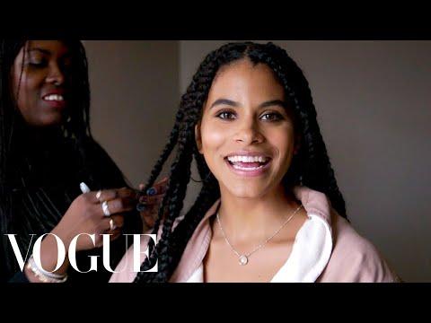 Zazie Beetz Gets Ready for the Joker Premiere   Vogue