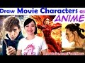 Draw Movie Characters in Famous Anime Styles | ART CHALLENGE! | Mei Yu