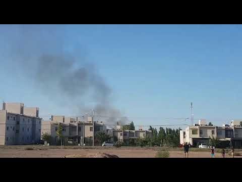 Incendio en asentamiento Néstor Kirchner
