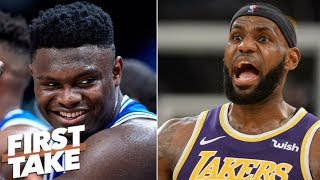 Will Zion Williamson be able to transcend LeBron James?   First Take