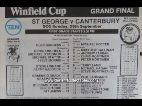 1985 NSWRL grand final: ST GEORGE v CANTERBURY at Sydney Cricket Ground