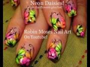 nail art tutorial rainbow neon