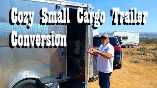 A cabin on wheels - Rick's Custom Cozy Tiny Cargo Trailer Conversion Tour