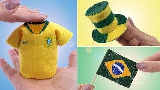 3 Coisas da Copa do Mundo para Barbie e outras Bonecas - Camiseta, Chapéu e Bandeira #1