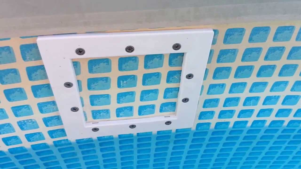 Installing a thruwall skimmer in an Intex pool  YouTube