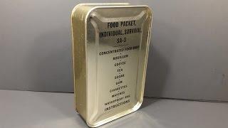 1952 Food Packet Survival Arctic 3 Korean War Military Ration Emergency MRE Review Tasting Test
