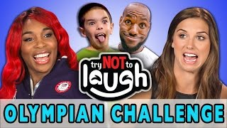 Try to Watch This Without Laughing or Grinning (ft. Olympians)