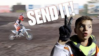 BEST MOTOCROSS RACE OF HIS LIFE   EIGHT YEAR OLD TAKES THIRD PLACE AT DIRT BIKE CHAMPIONSHIPS