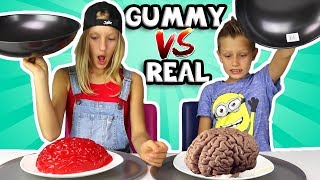 ALL GUMMY vs REAL IN ONE !!!!!!