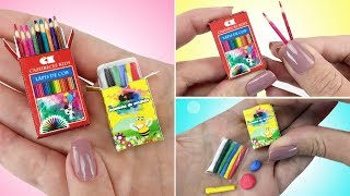 Como fazer Massinha e Caixa de Lápis de Cor para Barbie e outras Bonecas - Material Escolar #2