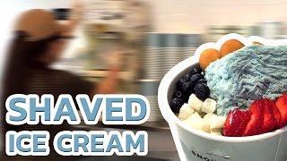 Shaved Ice Cream | Korean Patbingsu / Bingsu / Patbingsoo / Bingsoo - Snow Ice Cream