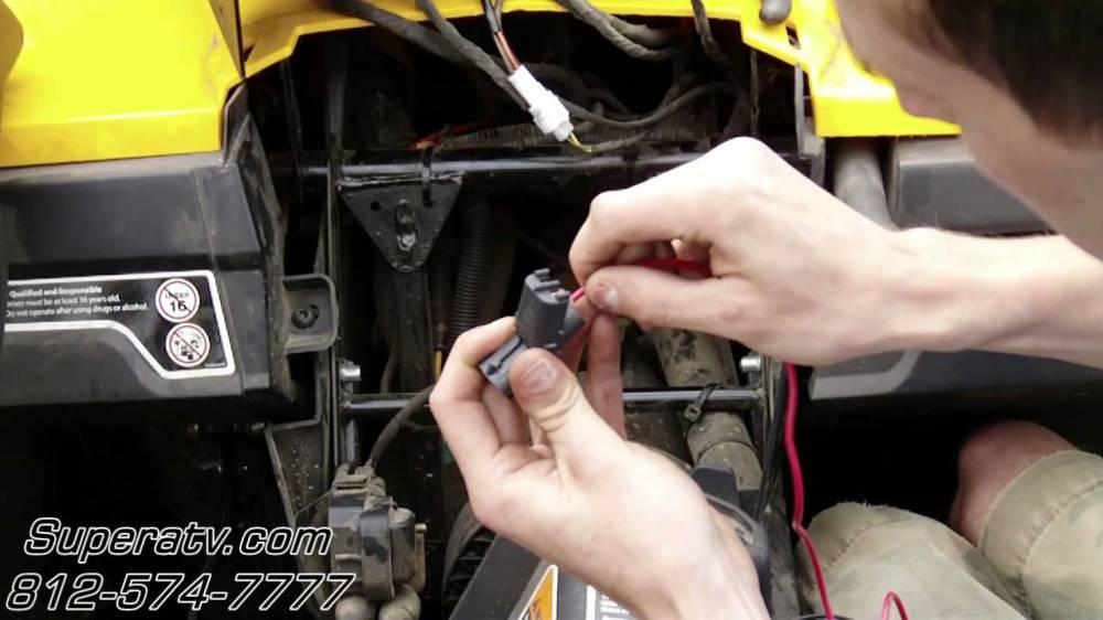 medium resolution of can am commander light wiring harness install super atv