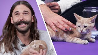 Jonathan Van Ness Plays With Kittens While Answering Fan Questions