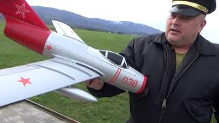 Freewing MIG15 64mm EDF jet Maiden flight on 3S 2700mAh