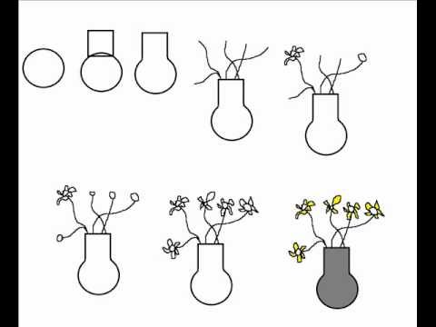 How To Draw A Vase With Flowers Simple Step By Step