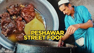 Food Tour of Peshawar | Mutton Chanp , Rosh at Ghanta Ghar & Karkhano | Pakistani Street Food