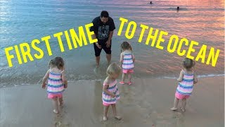 QUADRUPLETS SEE THE OCEAN FOR THE FIRST TIME AT AULANI
