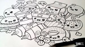 kawaii easy drawing graffiti drawings doodles draw kw garbi characters chainimage tekeningen tutorial cartoon fries eenvoudige illustratie dieren artiesten cool