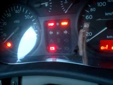 luz testigo serv airbag clio 2  YouTube