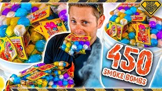 Experiment: Lighting off 450 Smoke Bombs