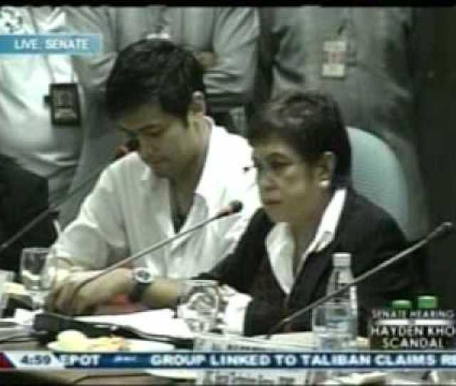 Katrina Halili Hayden Kho Senate Hearing
