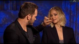 Chris Pratt Can't Stop Flirting With Jennifer Lawrence